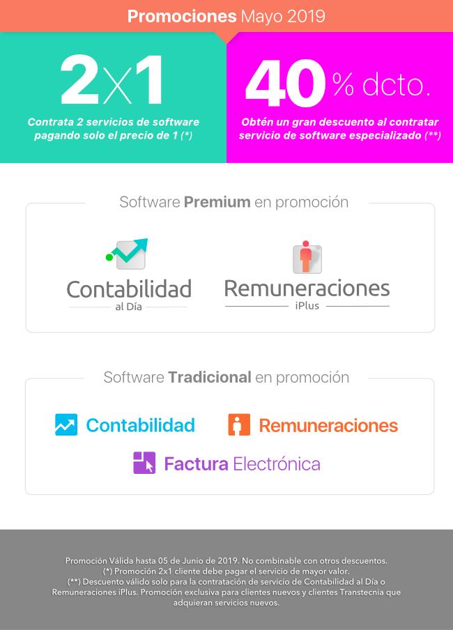 2x1 o 40% dcto en el mejor software de Chile