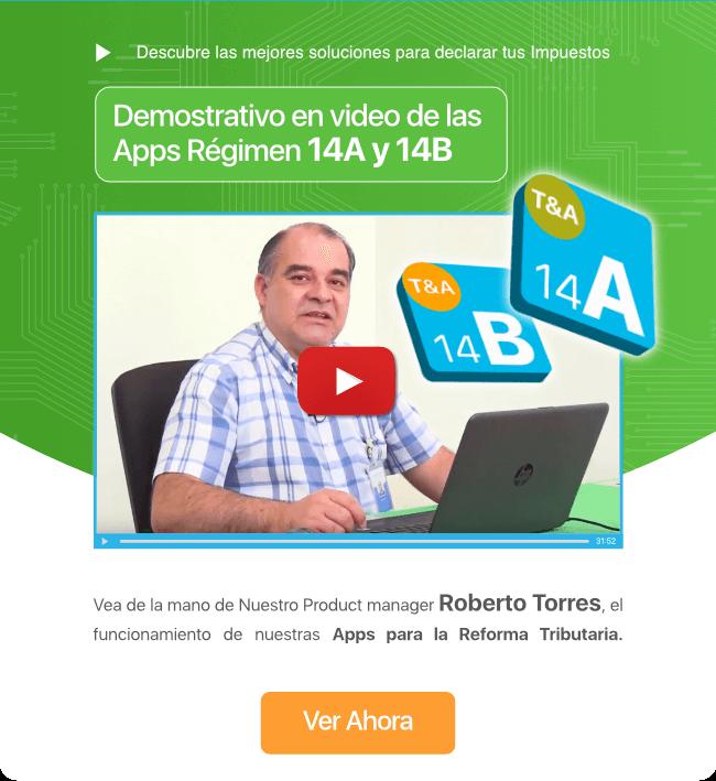 Demostrativo en video de las Apps Régimen 14A y 14B - Transtecnia