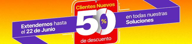Clientes Nuevos 50% de descuento