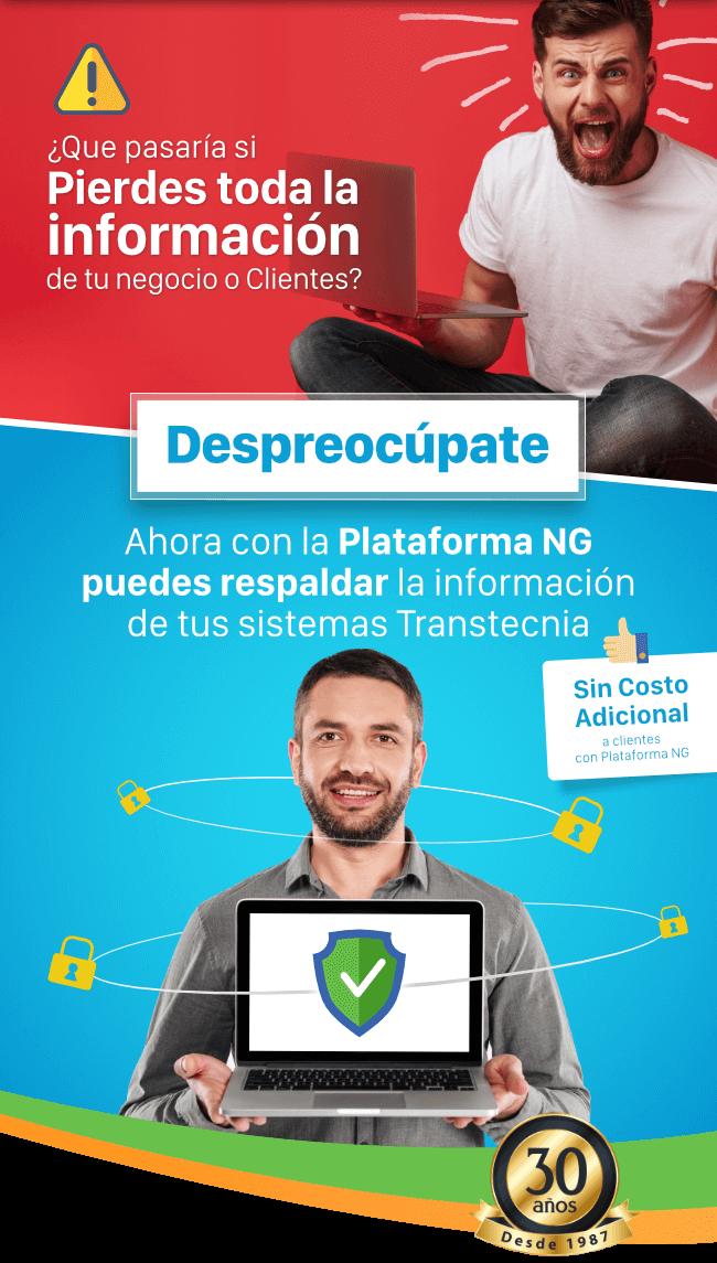 Plataforma NG - Backup Nueva funcionalidad