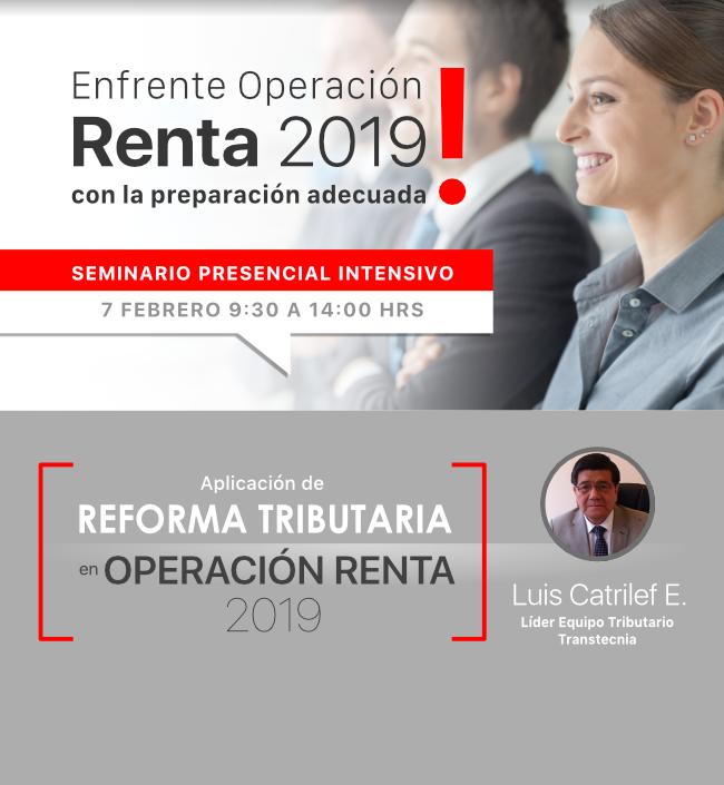 Enfrente Operación Renta: Seminario Luis Catrilef