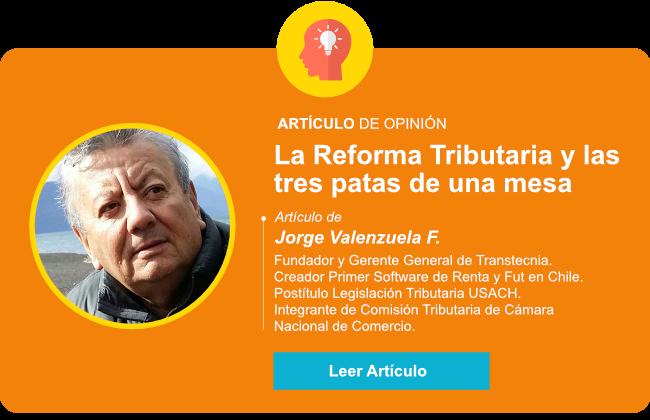 La Reforma Tributaria y las tres patas de una mesa