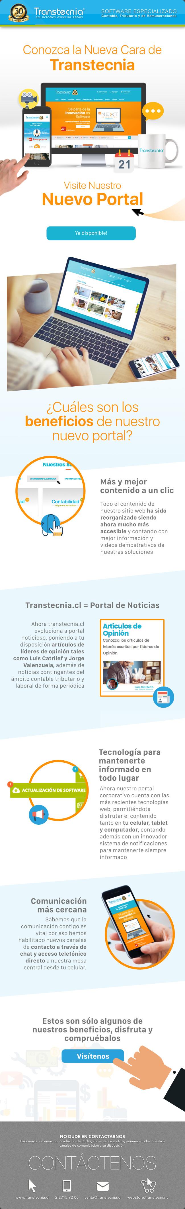 Conozca la nueva cara de Transtecnia. Visite nuestro nuevo Portal. www.transtecnia.cl