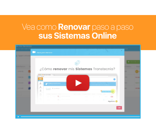 Como Renovar sus Sistemas Online